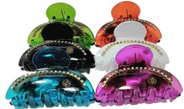 6-Pack Plastic Claw Hair Clips Bright Colors For Women - €9,80 EUR