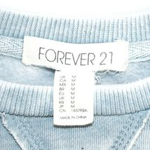 Forever 21 00137482 Faded Light Blue Long Sleeve Sweatshirt Size M image 3