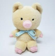 "5"" Sanrio 2000 Zashikibuta Pig Peach Blue Bow Stuffed Animal Plush Toy W/ Tag - $54.82"