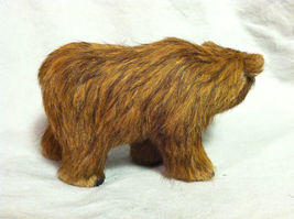 Wild Brown Grizzly Bear Animal Figurine - recycled rabbit fur image 5