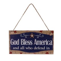 KODORIA God Bless America Wooden Plaque Patriotic USA Sign Wooden Hangin... - $9.26
