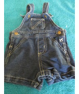 Faded Glory Baby Infant 0-3 Months Overall Jean Shorts - $3.95