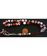 Greek Komboloi Fire Crackled Agate and Sterling Silver - $172.26