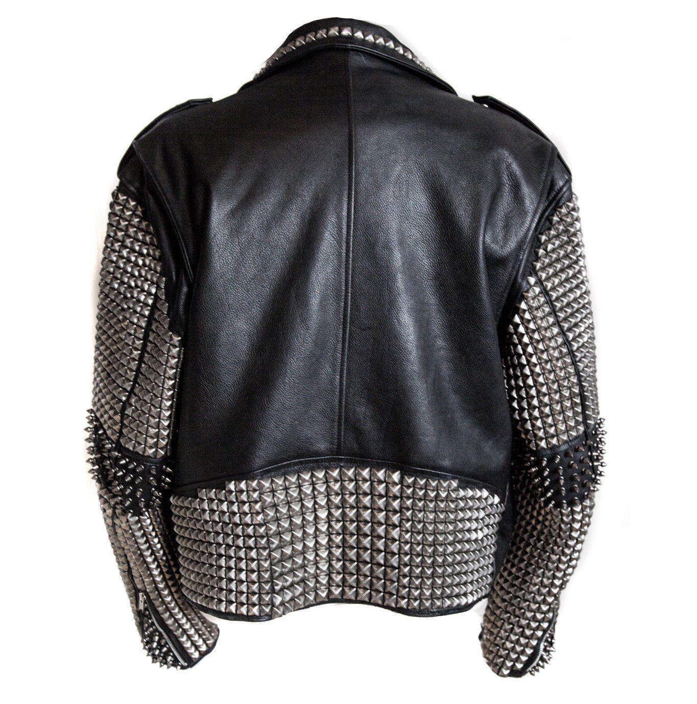 Handmade Men Studded Leather Biker Motorcycle Punk Rocker ...