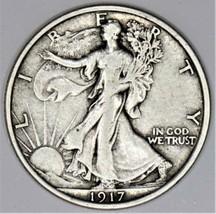 1917 Walking Liberty Half Dollar; Choice Original XF   - $65.33