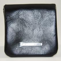 Blue Square Piquadro Portable Black Leather Coin Pouch NIB - $39.00