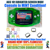 Nintendo Game Boy Advance GBA Green System AGS 101 Backlit Mod RECHARGEA... - $118.70+
