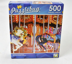 Jigsaw Puzzle 500pc Old Fashioned Carousel Horses New Puzzlebug TY98 - $14.80