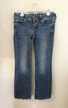 American Eagle Women s Jeans Outfitters Stretch Denim Size 4 Short Slim ... - $18.69