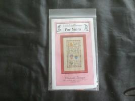 Elizabeth's Designs For Mom Little Leaf Design Cross Stitch Kit w/Thread & Charm - $7.92