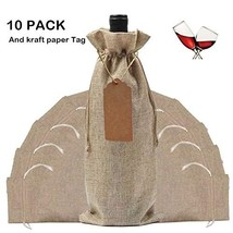 Wine Gift Bag with Drawstring10 Pack,Lovezeu Wine Bottle Wraps 13.78x5.9... - $19.43