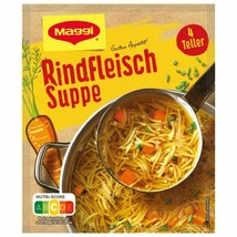 Maggi RINDFLEISCH BEEF Soup - 4 servings -Made in Germany- FREE SHIP  - $5.93