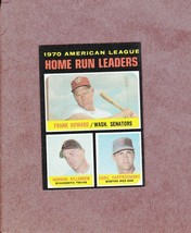 1971 Topps # 65 AL Home Run Leaders Carl Yastrzemski Harmon Killebrew Ni... - $3.99