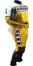 YAMAHA 6728 YELLOW MOTORBIKE MOTORCYCLE BIKER COWHIDE LEATHER ARMOURED 2... - $339.99