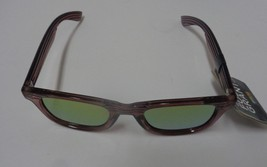 Foster Grant Sunglasses Wood Design Frame Mirrored NWT 100% UVA UVB Protection image 1