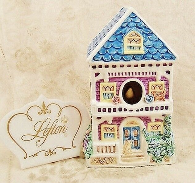 Lefton Born Free 1996 11011 Porcelain Music Box House Bird 1996 - $49.49