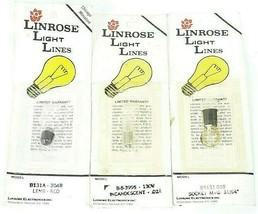 LOT OF 3 NEW CHICAGO MINIATURE LINROSE LIGHT LINES B-8-3995 / B5131-038 / B131A
