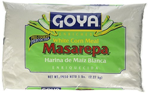 Goya Foods 5075 Masarepa Pre-Cooked White Corn Meal, 5 Pound