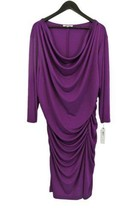 NWT DKNY New York 3X Orchid Pink Stretch Shirred Drape Slinky Knit Dress - $58.00