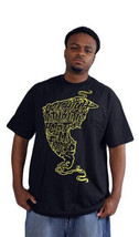 Famous Stars & Straps Black/Yellow Get High with Help From My Friends T-Shirt NW image 2