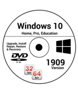 Windows 10 1909 Version 32Bit 64Bit Recovery Reinstall Boot Restore DVD ... - $19.99