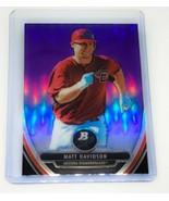 MLB MATT DAVIDSON DIAMONDBACKS 2013 BOWMAN PLATINUM PURPLE REFRACTOR #BP... - $1.61