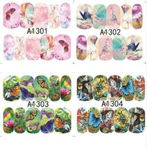 """HS Store -1 Sheets Nail Sticker Butterfly """"A1298"""" Nail Decorations UV Gel Polish image 4"""