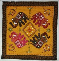 Indian Handmade Elephant Table Runner Hippie Patchwork Decorative Embroi... - $24.49
