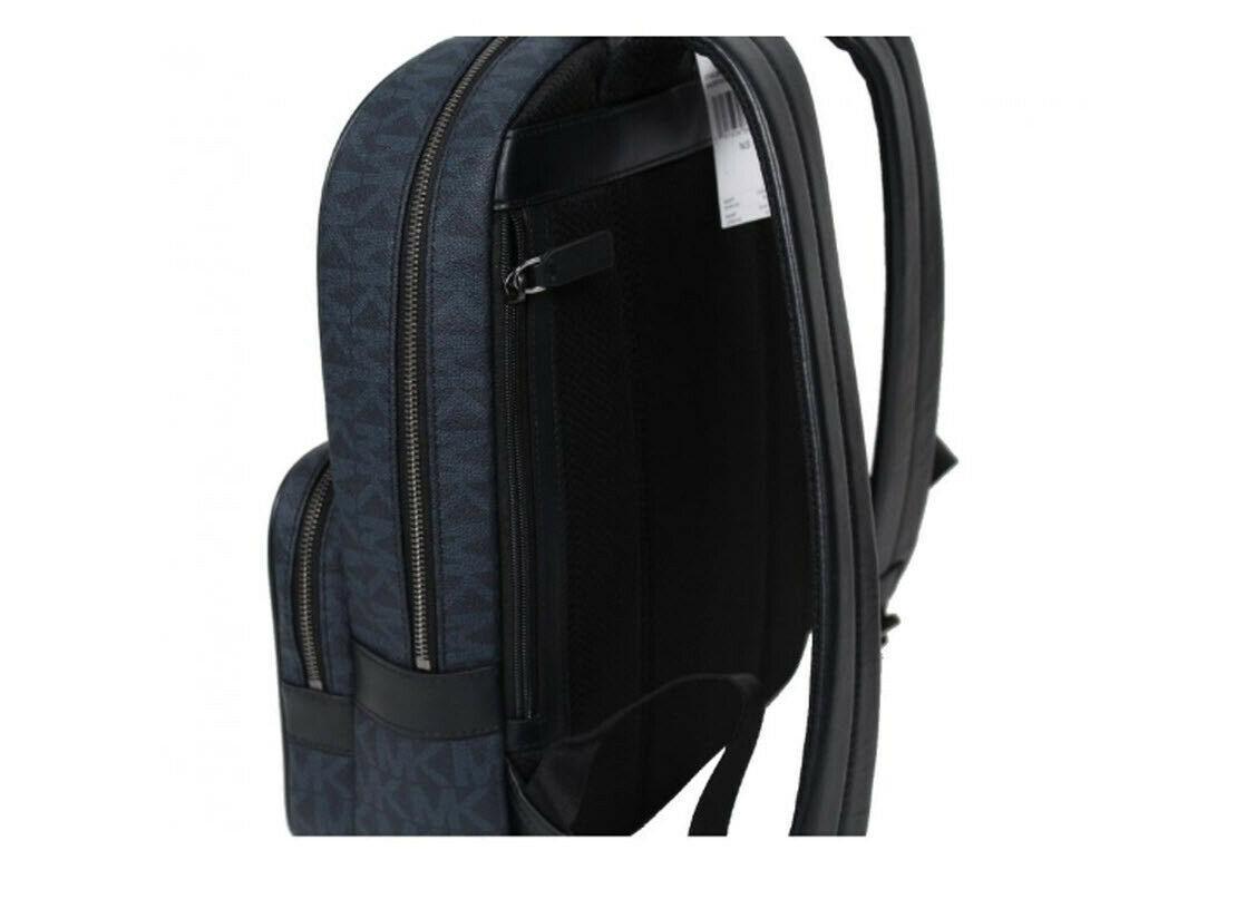 79b5b8f860a7 Michael Kors Jet Set Backpack Logo Large laptop travel bookpack BLUE