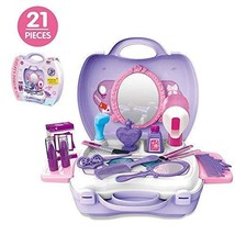 21Pcs Pretend Makeup Kit for Girls Cosmetic Pretend Play Dress-up Beauty... - $12.74
