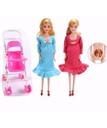 New Barbie Pregnant Mom Midge Doll Educational Real pregnant MOM+Baby+St... - $12.30