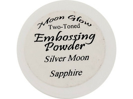 Moon Glow Two-Toned Embossing Powder Silver Moon Sapphire