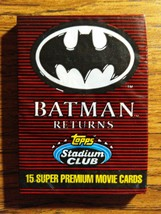 BATMAN RETURNS TOPPS STADIUM CLUB 15 SUPER PREMIUM MOVIE CARDS - BRAND NEW - $6.95