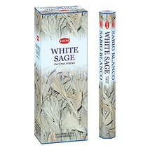 HEM White Sage Tubes Incense, 20g, Box of Six - $15.68