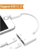 For Apple iPhone X 8 7 PlusAudio + Charger Adapter 2 in 1 Converter Spli... - $13.22