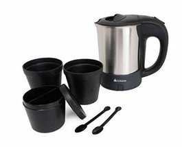 Schurze Electric Kettles Electric Pot with Cup Spoon for Travel 0.5L 0.5Quart 10