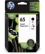 HP 65 Black & Tri-Color Ink Cartridge Combo OEM Genuine  T0A36AN  - $28.97