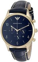 Emporio Armani Men's AR1862 Sport Blue Leather Watch - $151.17