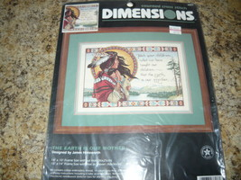 Dimensions # 3808 The Earth Is Our Mother Counted Cross Stitch Kit Unopened - $27.98