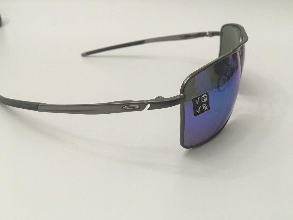 6c4268404d New Oakley Sunglasses Gauge 8 M Gunmetal w Prizm Sapphire Polarized 62-17-