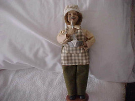 Vintage Male Caroler - Cook in Chef Hat with Mixing Bowl - $14.95