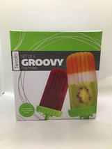 Tovolo Groovy Ice Pop Molds, Drip-Guard Handle, 4 Ounce Popsicles, Set o... - $14.85