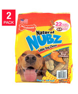 NEW Nylabone NUBZ Dog Chews, 22-count, 2-pack **FREE SHIPPING** - $38.99
