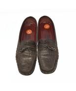 Salvatore Ferragamo Sport Womens Sz 7.5N (2A) Brown Leather Croc Pattern... - $59.99