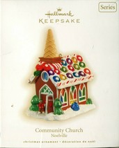 2009 Hallmark Keepsake Ornament - COMMUNITY CHURCH - 4th in the Noelvill... - $18.80
