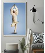 Yoga Pose Poodle Vertical Art Poster For Indoor Home Decoration, Christm... - $25.59+