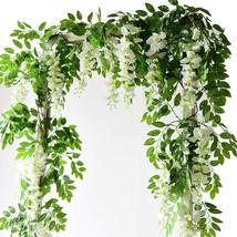 Wisteria Artificial Flowers Vine Garland Wedding Arch Decoration Home De... - $7.25