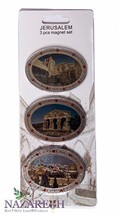 Oval Holy Places 3 Pcs Magnet Set Holy Land Souvenir Gift From Jerusalem - €8,37 EUR
