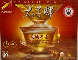 Prince of Peace American Wisconsin Ginseng Root Tea (2x30 Tea Bags) 1.8gx60 Bags - $42.56