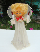 Vintage Christmas Light Up Tree Topper Angel Fast Free Shipping - $19.99